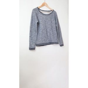 Everlane terry grey pullover top S